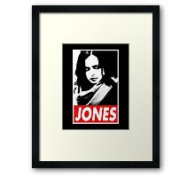 JESSICA JONES - Obey Design Framed Print