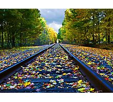 Fall On the Tracks Photographic Print