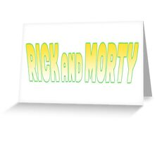 rick and morty 1 Greeting Card