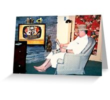 """Relaxin' with a Paper to a Cooter and Kooter Law Firm TV Advertisement ""... prints and products Greeting Card"