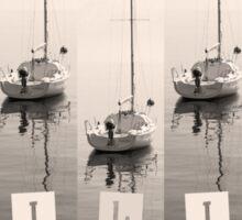 Sailing Sepia Seas Sticker