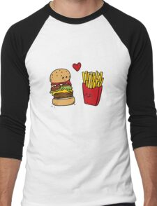 You're the Burger to my Fries Men's Baseball ¾ T-Shirt