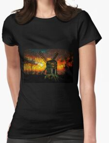 The Postmill (Black Mill) Mousehold Heath, Norfolk Womens Fitted T-Shirt