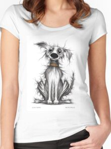 Cute puppy Women's Fitted Scoop T-Shirt