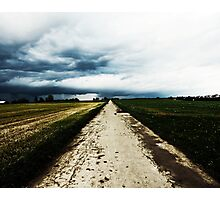 Stormy Road Photographic Print