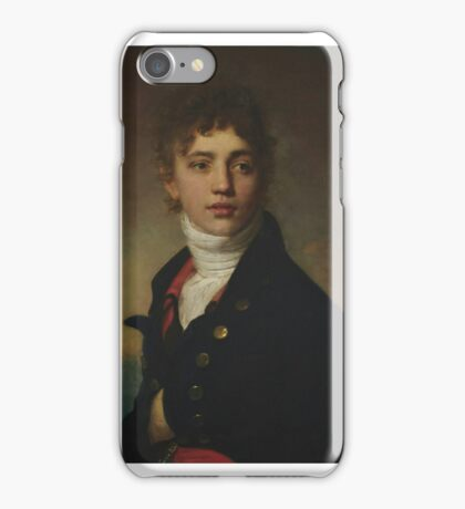 Portrait of young man bust by Henri-Pierre Danloux iPhone Case/Skin