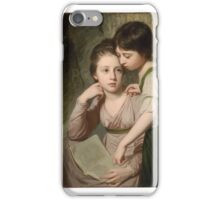 Portrait of Two Girls (Misses Cumberland), George Romney  iPhone Case/Skin