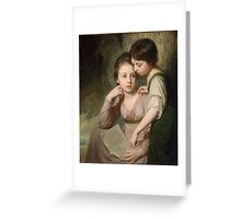Portrait of Two Girls (Misses Cumberland), George Romney  Greeting Card