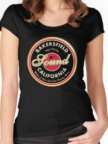 Bakersfield  California Country  Vintage Women's Fitted Scoop T-Shirt