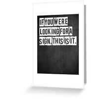 Typographic Print Greeting Card