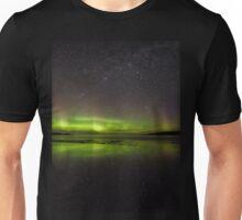 Shawbost shore aurora reflections.  Unisex T-Shirt