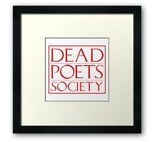 LIT NERD :: DEAD POETS SOCIETY Framed Print