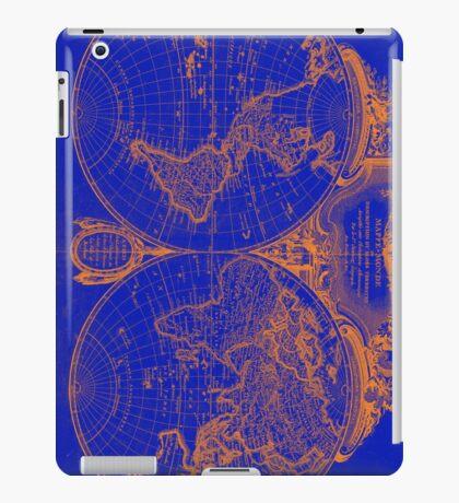 World Map (1775) Blue & Orange iPad Case/Skin