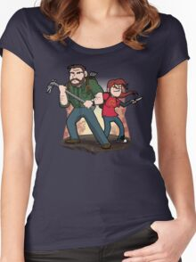 Post-Apocalyptic Dynamic Duo! Women's Fitted Scoop T-Shirt