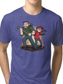 Post-Apocalyptic Dynamic Duo! Tri-blend T-Shirt