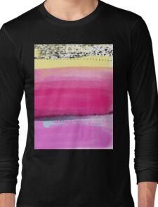 Watercolor Abstract Layers Version1 Pink Vivid Long Sleeve T-Shirt