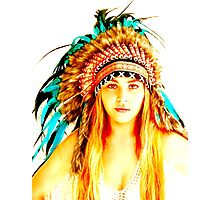 Indian warrior 1 Photographic Print