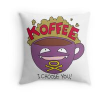 Koffee! I Choose You! Throw Pillow