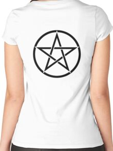 Pentacle, Witch, Wizard, WICCA, Modern, Pagan, Witchcraft, Religion, Cult Women's Fitted Scoop T-Shirt