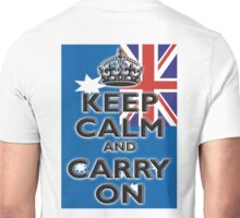 AUSTRALIA, AUSTRALIAN FLAG, KEEP CALM & CARRY ON, Australia, Aussie Unisex T-Shirt