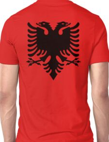 Albania, Black Eagle on Red, Albanian Flag, Flag of Albania, Tale of the Eagle Unisex T-Shirt
