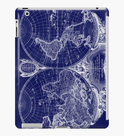 World Map (1775) Blue & White  iPad Case/Skin