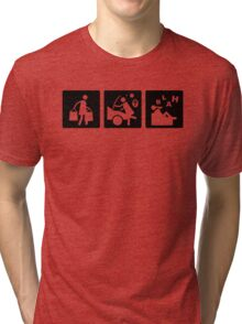 Three Little Pics - Women 11 Tri-blend T-Shirt
