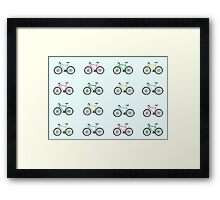 Illustrated Bicycles Framed Print