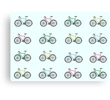 Illustrated Bicycles Canvas Print