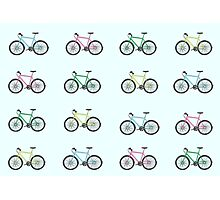 Illustrated Bicycles Photographic Print
