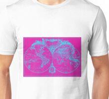 World Map (1775) Pink & Blue Unisex T-Shirt
