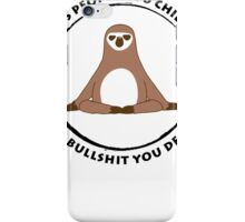 Sloth Yoga Zen iPhone Case/Skin