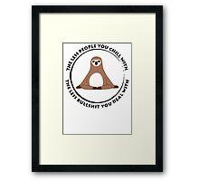 Sloth Yoga Zen Framed Print