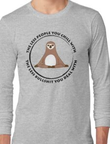 Sloth Yoga Zen Long Sleeve T-Shirt