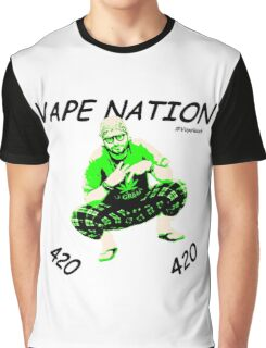 Vape Nation Fresh Black 100% Organic Plastic Tee - ONE:Print Graphic T-Shirt