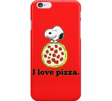 Snoopy I Love Pizza iPhone Case/Skin