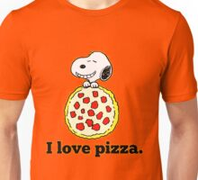 Snoopy I Love Pizza Unisex T-Shirt