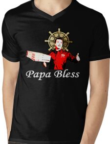 Papa Bless Alt. - ONE:Print Mens V-Neck T-Shirt