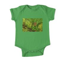 Impressions of Gardens - a Miniature Spring Creek with a Red Primrose  One Piece - Short Sleeve