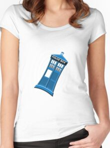 Tardis Tee Women's Fitted Scoop T-Shirt