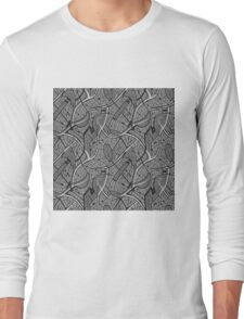 Hand drawn motif of city's map Long Sleeve T-Shirt