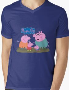 Peppa Pig Mens V-Neck T-Shirt