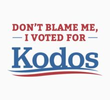 Don't Blame Me I Voted For Kodos Shirt Kids Tee