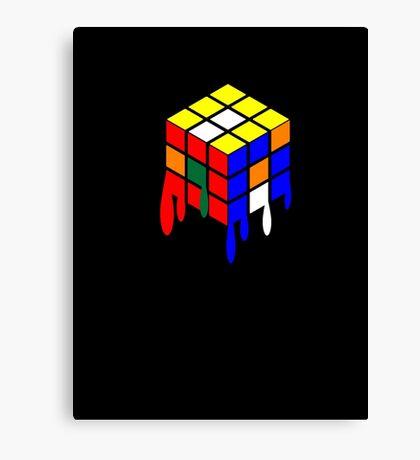 Dripping Cube Canvas Print