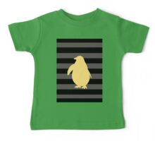 Yellow Penguin and black stripes Baby Tee