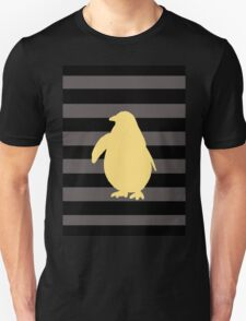 Yellow Penguin and black stripes Unisex T-Shirt