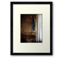 22.3.2016: Towel and Curtains Framed Print
