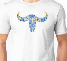 Water Buffalo Skull – Navy & Yellow Unisex T-Shirt