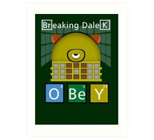 Breaking Dalek Art Print