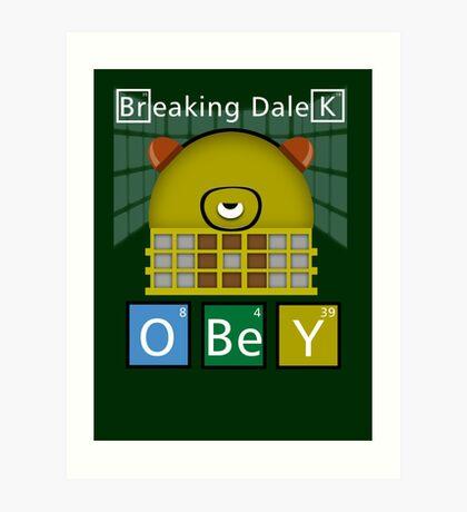 Breaking Dalek Art Print